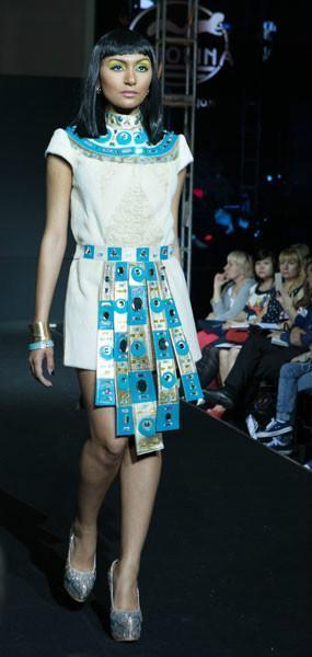 Платье Нефертити из меха каракуль + нутрия арт - Vip3
