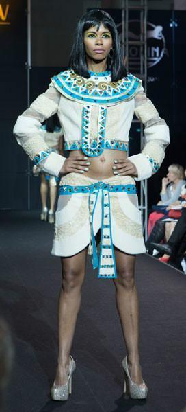 Платье Фреска из меха каракуль + нутрия арт - Vip4
